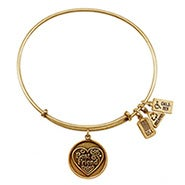 Wind and Fire Best Friend Charm Gold Bangle Bracelet
