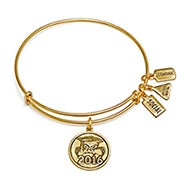 Wind and Fire 2016 Graduation Charm Bangle in Gold