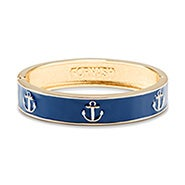 Fornash Anchor Bangle in Navy