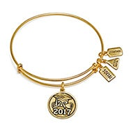 Wind and Fire 2017 Graduation Charm Bangle in Gold