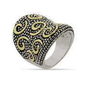 Designer Inspired Gold Swirl Bali Style Ring