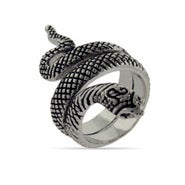 Oxidized Wrapping Snake Ring