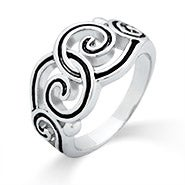 Swirling Filigree Vintage Style Ring