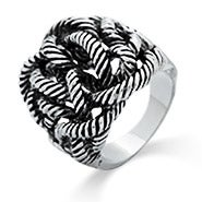 Twisted Rope Designer Inspired Ring