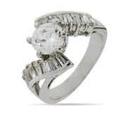 Brilliant Cut CZ Engagement Ring