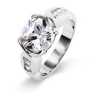 Dazzling Oval Cut CZ Ring