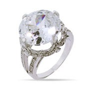 Stunning 12 Carat Brilliant Cut Right Hand Ring