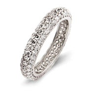 Beautiful Sparkling Pave CZ Eternity Band