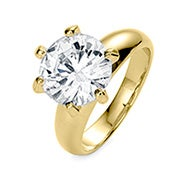 Classic 3.5 Carat Brilliant Cut CZ Gold Engagement Ring