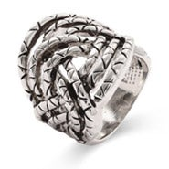 Designer Inspired Woven Bali Style Ring - Clearance Final Sale