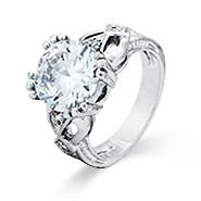 Open Heart 7 Carat Brilliant Cut Engagement Ring