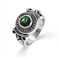 Designer Inspired Vintage Deco Style Emerald CZ Ring