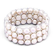 White Pearl Stretch Bracelet