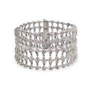 Elegant Five Row Cubic Zirconia Glam Bracelet