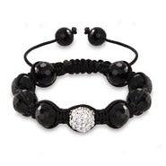 Austrian Crystal and Disco Balls Shamballa Inspired Bracelet