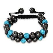 Designer Inspired Aquamarine Crystal Spiritual Bead Bracelet