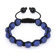 10mm Sapphire Crystal Bead Shamballa Style Bracelet