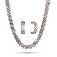 Brilliant Cut CZ Cocktail Necklace and Earrings Set