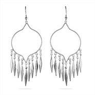 Western Style Sterling Silver Chandelier Earrings