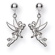 Sterling Silver Tinkerbell Earrings - Officially Licensed Disney Jewelry
