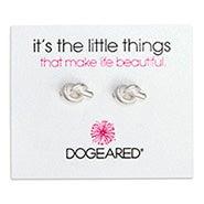 Dogeared Love Knot Sterling Silver Stud Earrings
