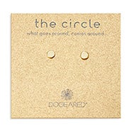 Dogeared Thin Circle Gold Stud Earrings