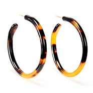 Fornash Gretchen Tortoise Hoop Earrings