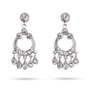 Celebrity Inspired Sterling Silver Diamond CZ Chandelier Earrings