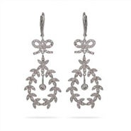 Stunning CZ Leaf Earrings