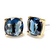 Fornash Charlotte Earrings with Navy Stones