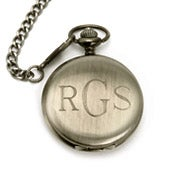 Gun Metal Engravable Pocket Watch