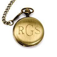 Engravable Gold Plated Pocket Watch