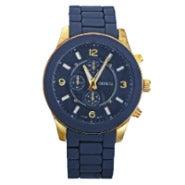 Designer Inspired Navy Blue and Gold Boyfriend Watch