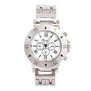 Men's Designer Style Watch in Stainless Steel