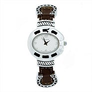 Lucky Horsehoe Brown Leather Watch