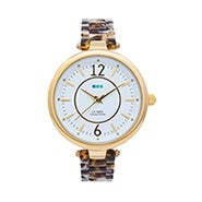 La Mer Sicily Tortoise and Gold Watch