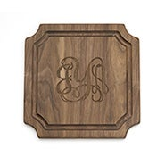 Classic Script Monogram Personalized Cutting Board