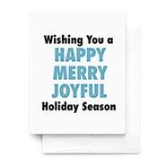 Happy Merry Joyful Greeting Card