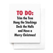 Christmas To Do List Greeting Card