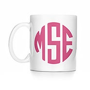 Personalized Block Monogram Coffee Mug