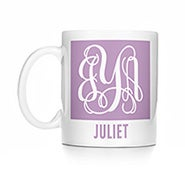 Personalized Fancy Script Monogram Coffee Mug