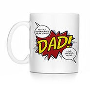 Personalized Super Dad Comic Book Mug