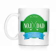 Personalized No. 1 Dad Golf Mug