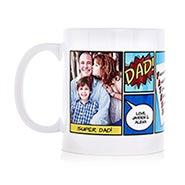 Personalized Super Dad Comic Book Photo Mug