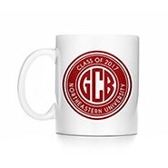 Personalized Block Monogram Graduation Mug