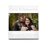 "Engravable 4"" x 6"" Personalized Picture Frame with Brushed Finish"
