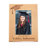 Personalized Carved Graduation Hat Wood Frame