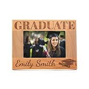Personalized Carved Graduate Wood Frame