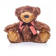 Teddy Bear with Dark Brown Bow