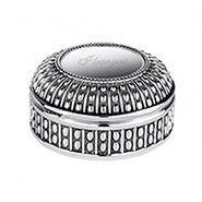 Engravable Beaded Antique Style Round Jewelry Box